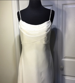 Queenly size 10  White Train evening gown/formal dress