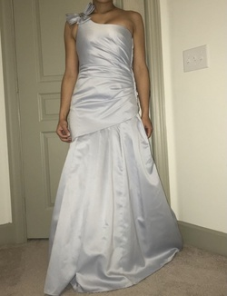 Silver Size 8 Mermaid Dress on Queenly