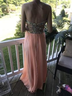 La Femme Orange Size 4 Sweetheart Straight Dress on Queenly
