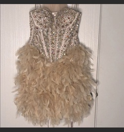 Queenly size 6  Nude Cocktail evening gown/formal dress