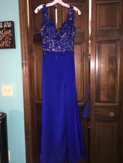 Night Studio Blue Size 2 Side slit Dress on Queenly