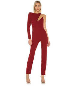 Queenly size 2 Michael Costello Red Romper/Jumpsuit evening gown/formal dress