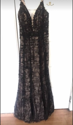 Queenly size 18 Sherri Hill Black Mermaid evening gown/formal dress