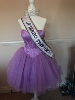 Sherri Hill Purple Size 4 Pageant Cocktail Dress on Queenly