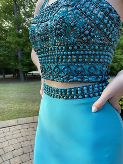 Queenly size 0 Angela & Allison Blue Straight evening gown/formal dress