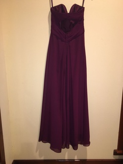 Mori Lee Purple Size 2 Padded Strapless Cut Out Straight Dress on Queenly