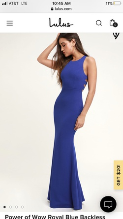 Queenly size 8 Lulus Blue Straight evening gown/formal dress