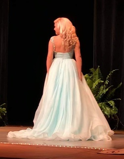 Sherri Hill Blue Size 4 Tall Height Ball gown on Queenly