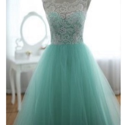 Queenly size 16  Green Ball gown evening gown/formal dress