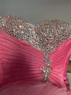 Mori Lee Pink Size 2 Jewelled Quinceanera Ball gown on Queenly