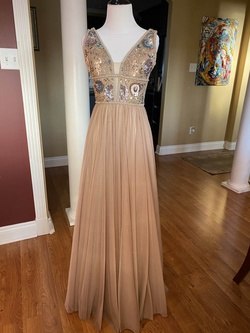 Sherri Hill Nude Size 0 Jewelled A-line Dress on Queenly