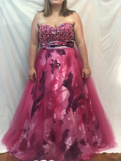 Queenly size 18  Pink Ball gown evening gown/formal dress