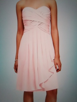 David's Bridal Pink Size 14 Sweetheart Plus Size Cocktail Dress on Queenly