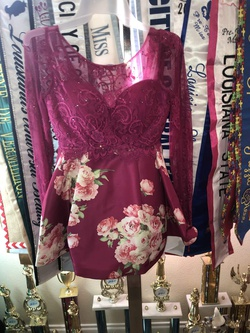 Sherri Hill Pink Size 00 Long Sleeve Homecoming Cocktail Dress on Queenly