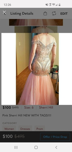 Sherri Hill Pink Size 6 Mermaid Dress on Queenly
