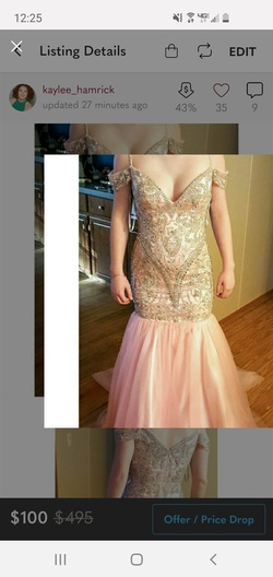 Queenly size 6 Sherri Hill Pink Mermaid evening gown/formal dress