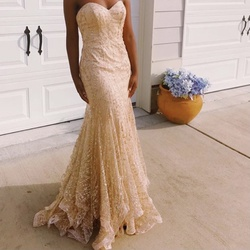 Queenly size 8  Gold Mermaid evening gown/formal dress
