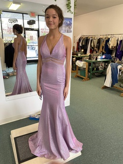 Queenly size 2  Purple Mermaid evening gown/formal dress