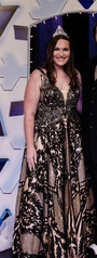 Queenly size 16  Black Ball gown evening gown/formal dress