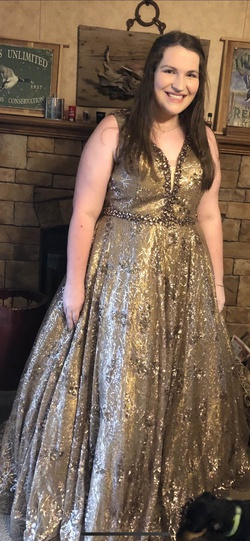Queenly size 18  Gold Ball gown evening gown/formal dress