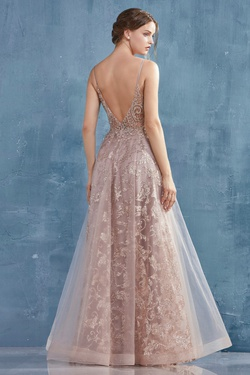 Andrea and Leo Pink Size 2 Backless Lace A-line Dress on Queenly