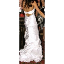 Queenly size 4  White Straight evening gown/formal dress