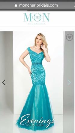Mon Cheri Green Size 6 Mermaid Dress on Queenly