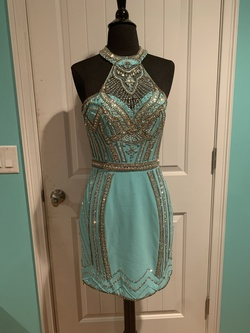 Queenly size 2 Rachel Allan Blue Cocktail evening gown/formal dress