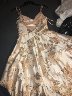 City Triangles Nude Size 2 Prom Floral Ball gown on Queenly