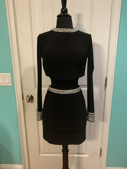 Queenly size 2 Rachel Allan Black Cocktail evening gown/formal dress