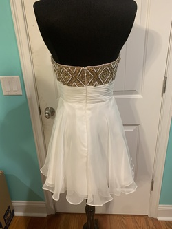 Rachel Allan White Size 4 Strapless Homecoming Cocktail Dress on Queenly
