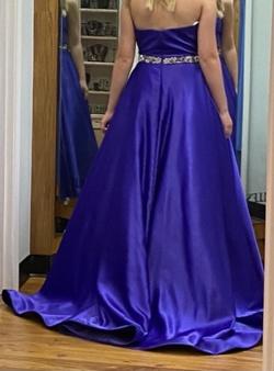 Sherri Hill Purple Size 2 Tall Height Silk Train Dress on Queenly