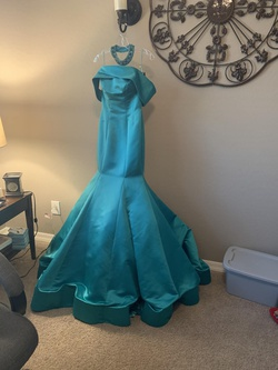 Blue Size 6 Mermaid Dress on Queenly