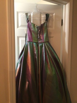 Johnathan Kayne Multicolor Size 4 Prom Ball gown on Queenly