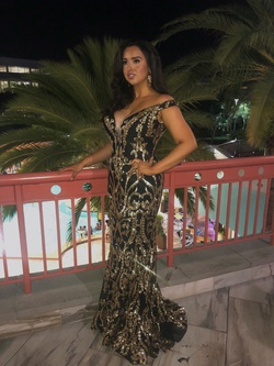 Queenly size 14 Jovani Black Straight evening gown/formal dress
