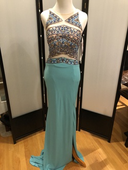 Queenly size 2 Jovani Blue Straight evening gown/formal dress