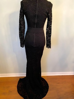 Black Size 6 Mermaid Dress on Queenly