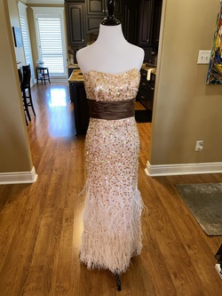 Queenly size 6 Jovani Pink Straight evening gown/formal dress