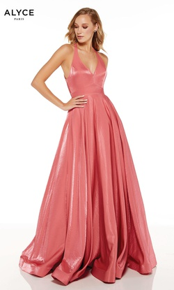 Queenly size 10 Alyce Paris Pink A-line evening gown/formal dress