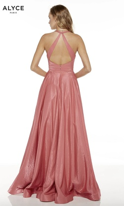 Style 60623 Alyce Paris Pink Size 18 Tall Height Pockets V Neck A-line Dress on Queenly