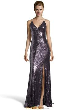 Queenly size 2 Alyce Paris Black Side slit evening gown/formal dress