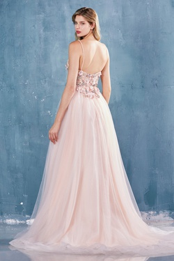 Style A0721 Andrea & Leo Light Pink Size 8 A-line Dress on Queenly