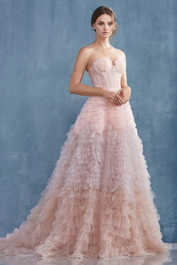 Queenly size 6 Andrea & Leo Pink Ball gown evening gown/formal dress