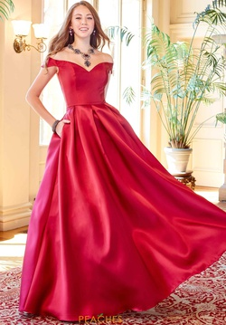 Queenly size 10 Clarisse Red Ball gown evening gown/formal dress
