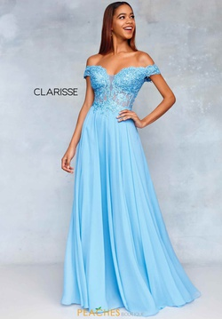 Queenly size 18 Clarisse Blue A-line evening gown/formal dress