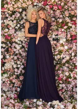 Style 8025 Clarisse Purple Size 14 Lace Plus Size A-line Dress on Queenly