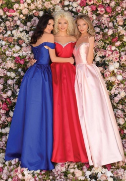 Style 8057 Clarisse Red Size 24 Corset Sleeves Ball gown on Queenly