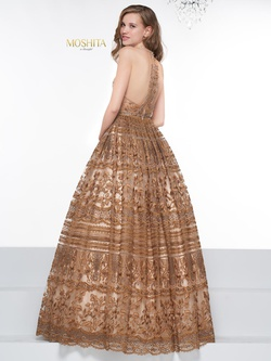 Style J082 Colors Gold Size 8 Quinceanera Tall Height Ball gown on Queenly
