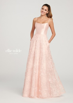 Queenly size 14 Ellie Wilde Pink A-line evening gown/formal dress