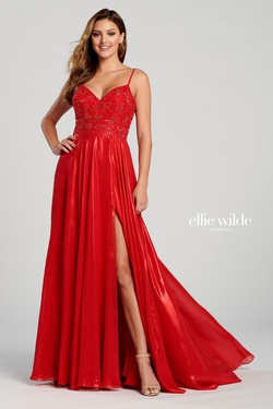 Queenly size 16 Ellie Wilde Red A-line evening gown/formal dress